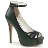 BELLA - 31 Dark Green/Black Faux Leather